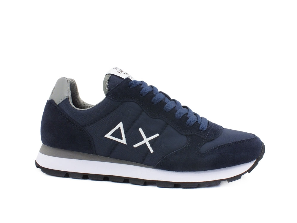 SUN68 Tom Solid Nylon Sneaker Uomo Navy Blue Z31101