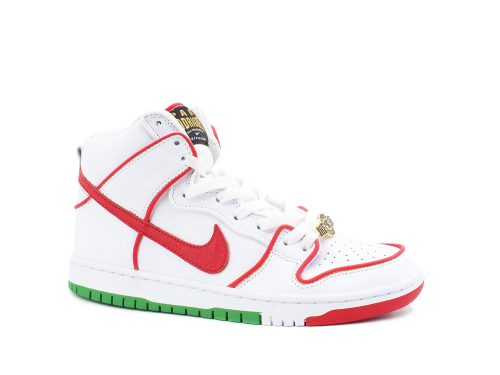 NIKE SB Dunk High Paul Rodriguez Mexico Sneaker White Red Green 9 US CT6680 100