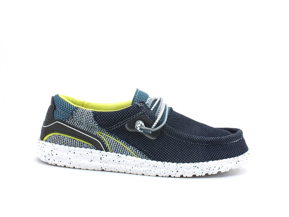 HEY DUDE Wally Hawk Scarpa Vela Uomo Space Blue 112252131