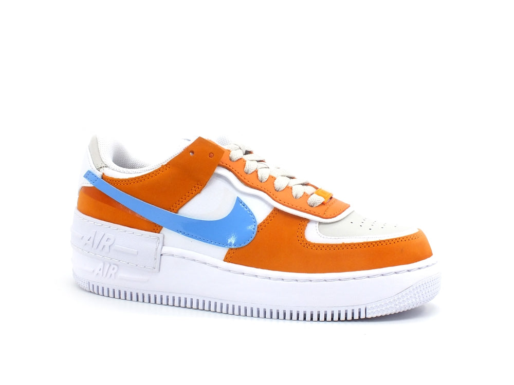 NIKE Air Force 1 Shadow Wmns Sneaker Donna White University Blue CZ0365-100