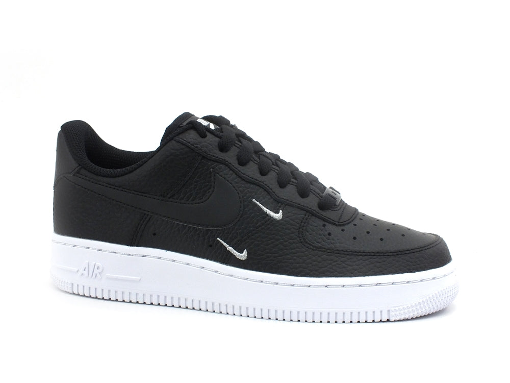 NIKE Air Force 1 '07 Essential Sneaker Donna Black Metallic Silver CT1989-002