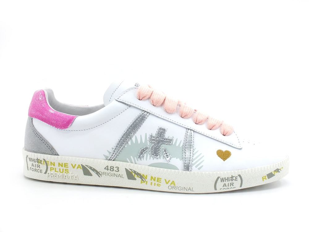 PREMIATA Andyd Sneaker Donna Retro Fuxia Heart White ANDYD-3903