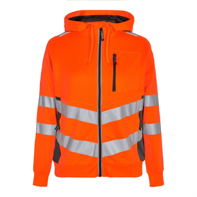 Safety Dame Sweatshirt - Orange/Grå