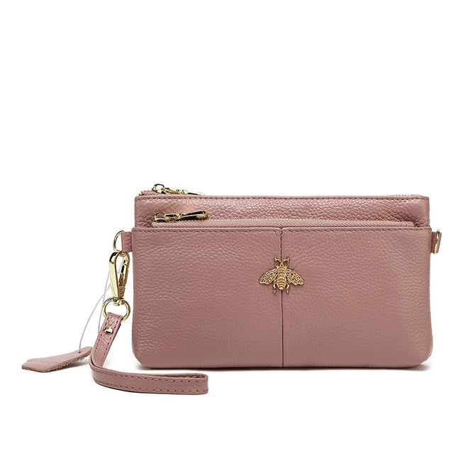 Little Bee Leather Purse  Pink