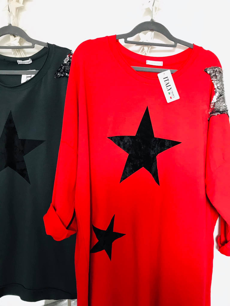 Red Velvet Star Tunic