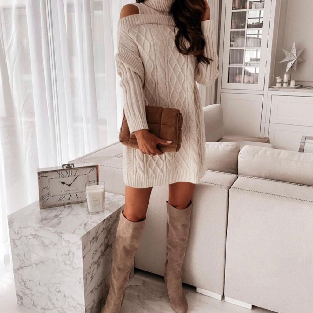 Cream Jumper Dress