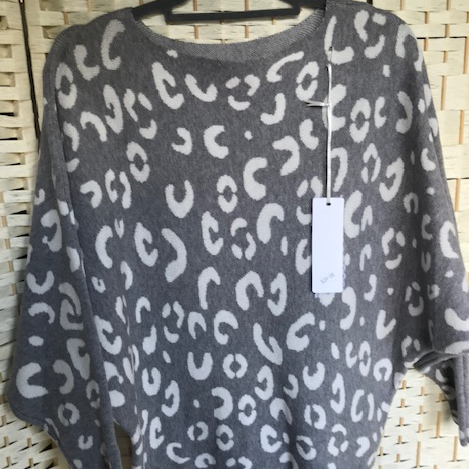 Leopard Print grey/ white Jumper