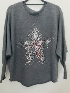 Twinkling Star Jumper Silver