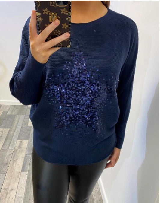 Twinkling Star Jumper Navy