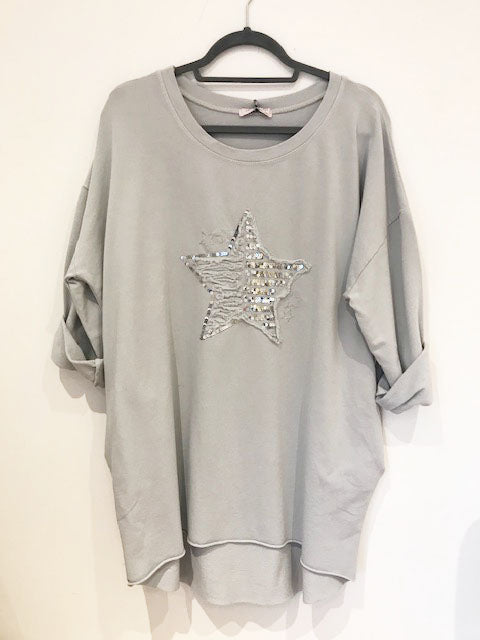 Sequin Star Tunic Silver