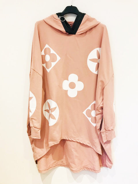 Old Flower Hoody  Pink