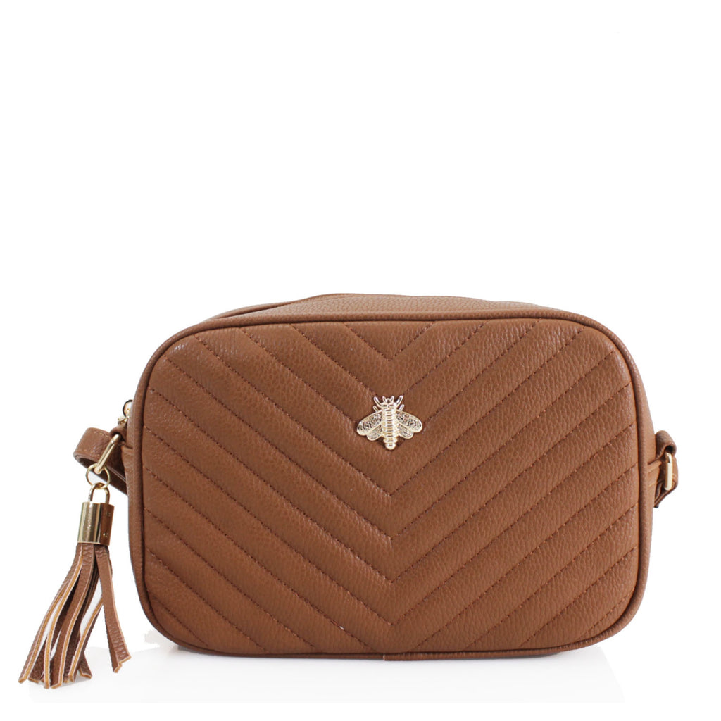 Rome Cross Body Bag Tan