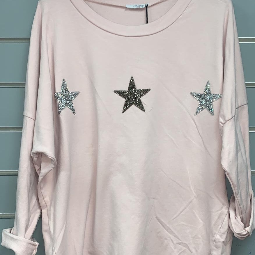 wish upon a star Blush top