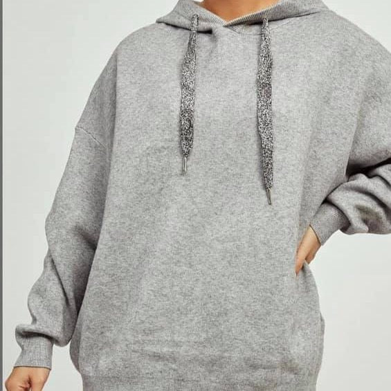 Grey Angel Wing Hoody