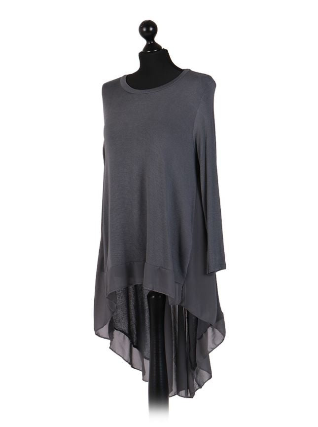 Charcoal Grey Hi Low Tunic