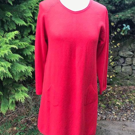 Red Knitted Jumper Dress