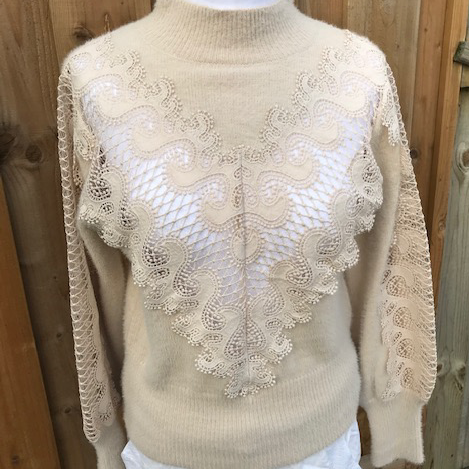 Cream Lace Detailed Jumper