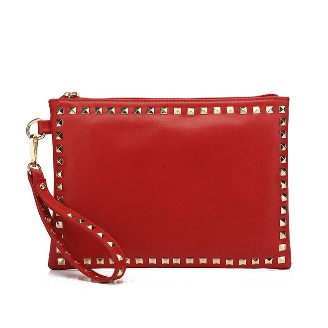 Red Inspired Clutch Bag