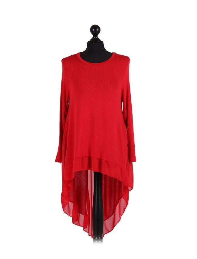 Red Hi Low Tunic