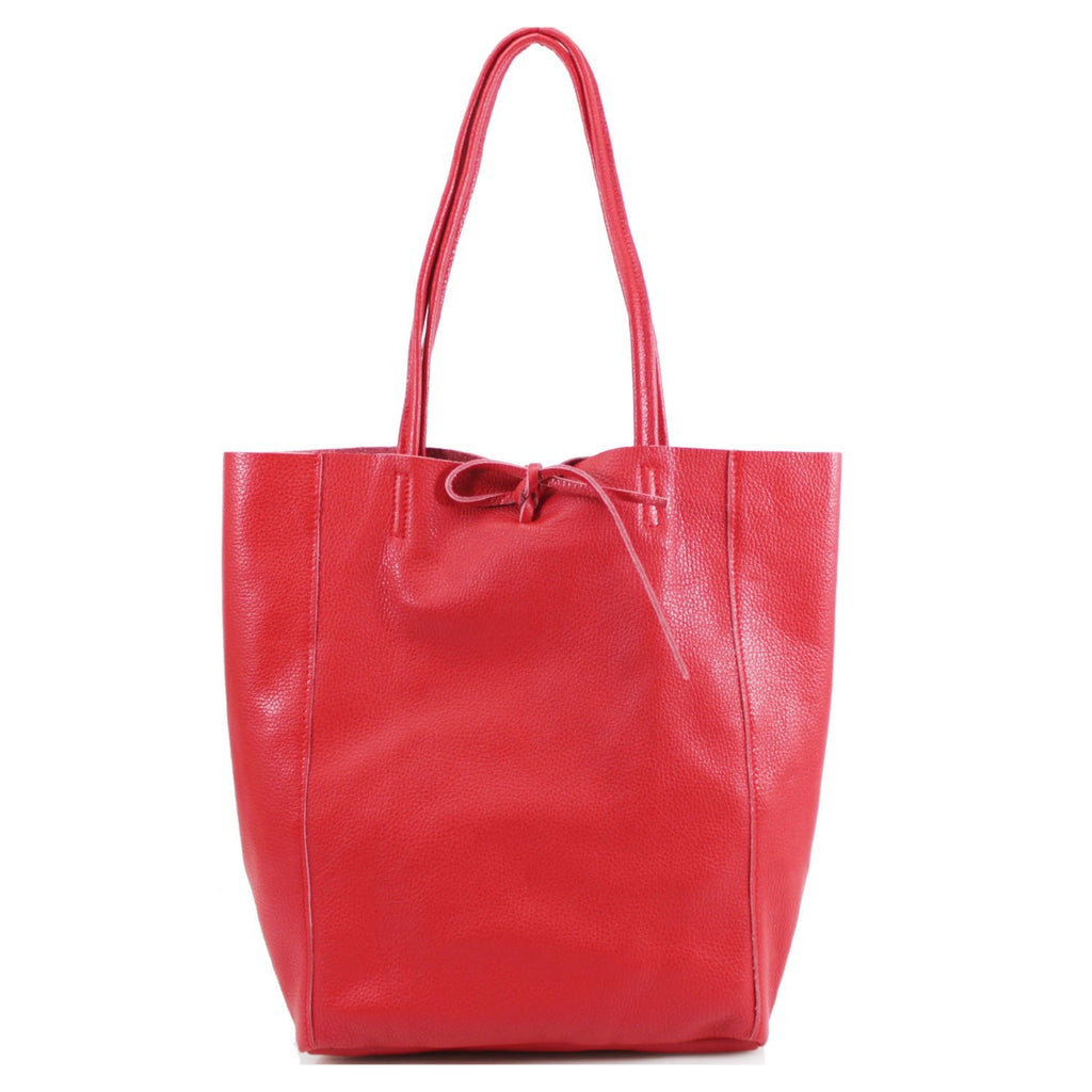 Red Leather Italian Bag