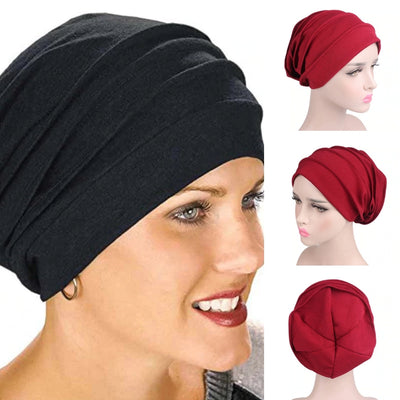 Long Hair Bun Insert Ladies Headscarf Hijab Cotton Under Cap (8 Color)