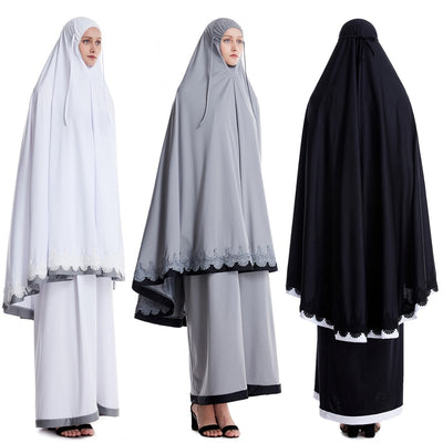 Women's Islamic Muslim Prayer Dress for Salat Ramadan Hajj (3 Colors)