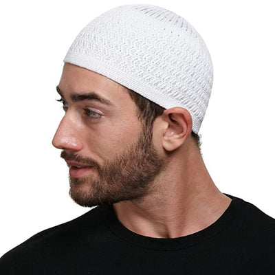 Full Head Cover Knitted Islamic Muslim Salat Prayer Cap (8 Colors)