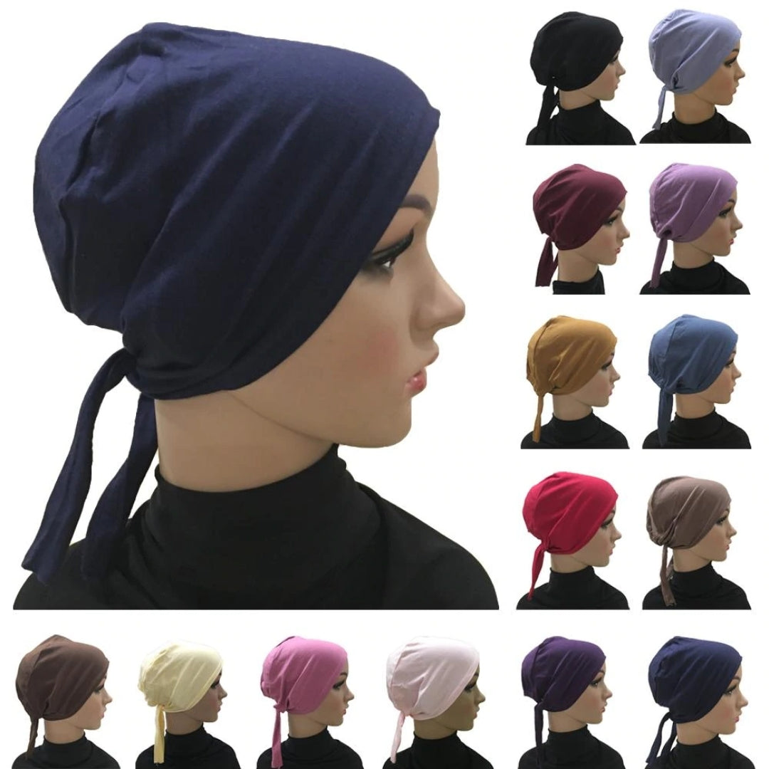 Cotton Ladies Headscarf Inner Hair Cap (Hijab Under Scarf) 20 Colors