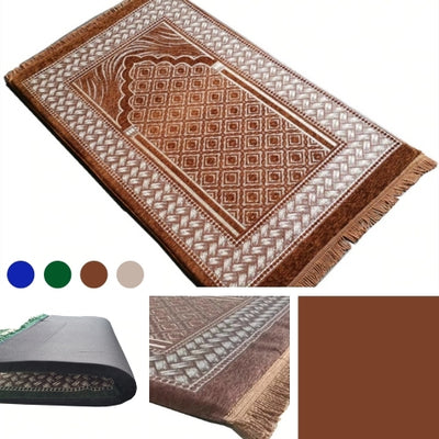 Soft Islamic Muslim Plush Foamed Salat Prayer Janamaz Rug Mat (3 Type)