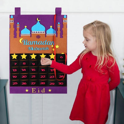 Ramadan Kids Gift Keeper, Fasting and Eid Countdown Calendar (2 Color)