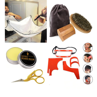 10 in 1 Men's Beard and Hair Styling Shaping Tools (Travel Kit)