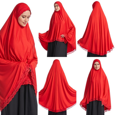 Women's Islamic Muslim Prayer Hijab Top Khimar Scarf (6 Colors)
