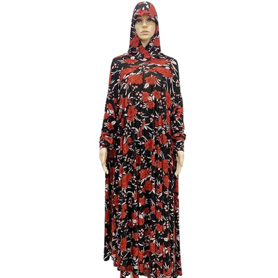 Floral 1 Piece Women's Islamic Muslim Salat Prayer Dress (13 Designs)