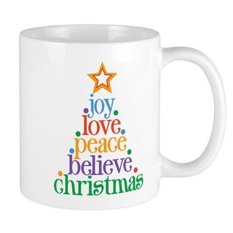 Joy Love Christmas Tree Mug - SpaceOutLabs