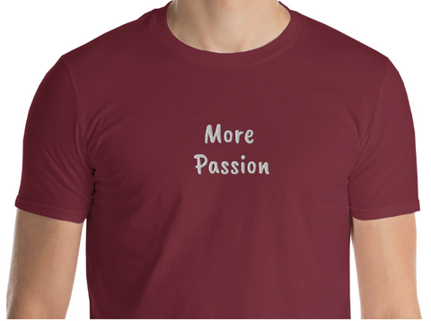 More Passion Embroidered Tee - Space Out Labs More Emotion Collection