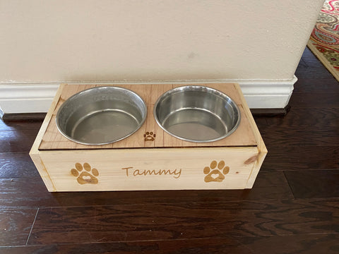 Personalized Pet Bowl Holder / Stand