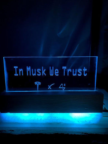 In Musk We Trust Desk Light - SpaceOutLabs
