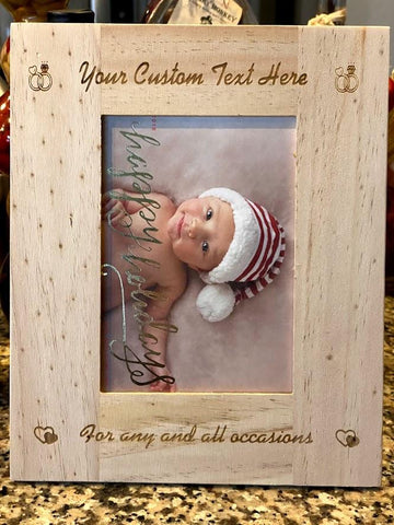 Light Wood 5x7 Photo Frame | Custom Photo Frame - SpaceOutLabs