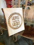 Home is Where The Heart is | Rustic Sign | Entryway sign - SpaceOutLabs
