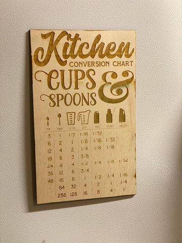 Kitchen Conversion Fridge Magnet Chart | Easily Convert Spoons, Tablespoons TSP and more! - SpaceOutLabs