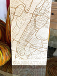 Map of Manhattan Wood Poster / Sign - SpaceOutLabs