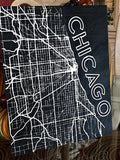 Map of Chicago, Il Wood Poster / Sign - SpaceOutLabs