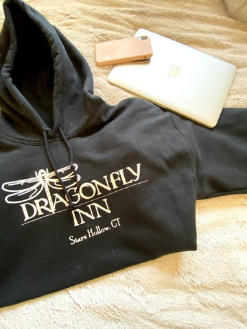 Dragonfly Inn Stars Hollow Ct Hooded Sweatshirt - SpaceOutLabs