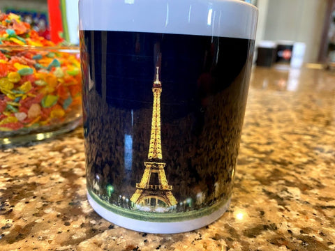 Eiffel Tower Ceramic White Mug 12OZ Color Changing - SpaceOutLabs