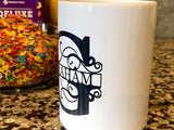 Large Initial and Last Name Custom Mug 12OZ Color Changing - SpaceOutLabs