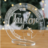 Family Name 'Tree' Home Ornament - Personalized Keepsake - SpaceOutLabs