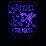 Personalized 99% Unicorn Night Light, Color Changing Girls Lamp For Kids Bedroom - SpaceOutLabs
