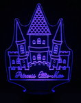 Personalized Fairy Tale Castle Night Light, Color Changing Girls Lamp For Kids Bedroom - SpaceOutLabs