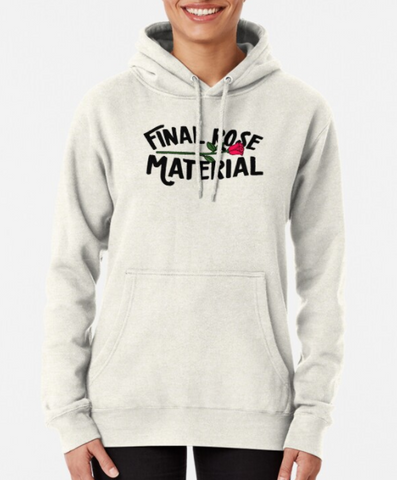 Final Rose Material Hooded Sweatshirt