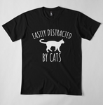 Easily Distracted by Cats - Cat Lovers Graphic Tee